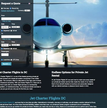 Jet Charter Flights DC